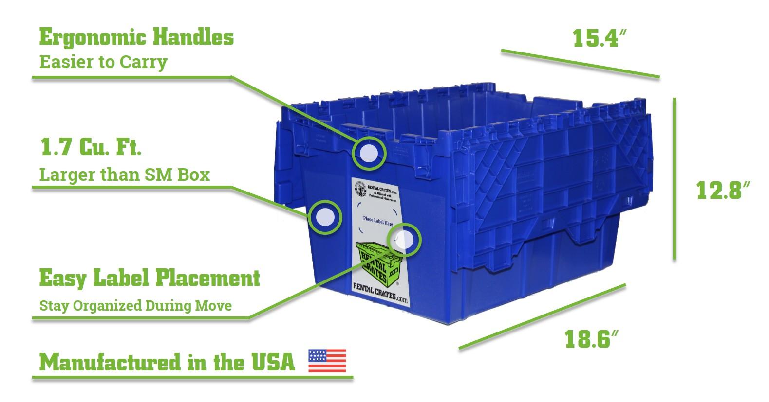Medium Rental Crate Demensions