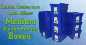 Rental Crates.com Now Offers Medium Plastic Moving Boxes
