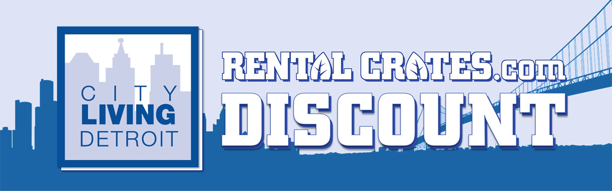 Rental Crates City Living Detroit Banner Image
