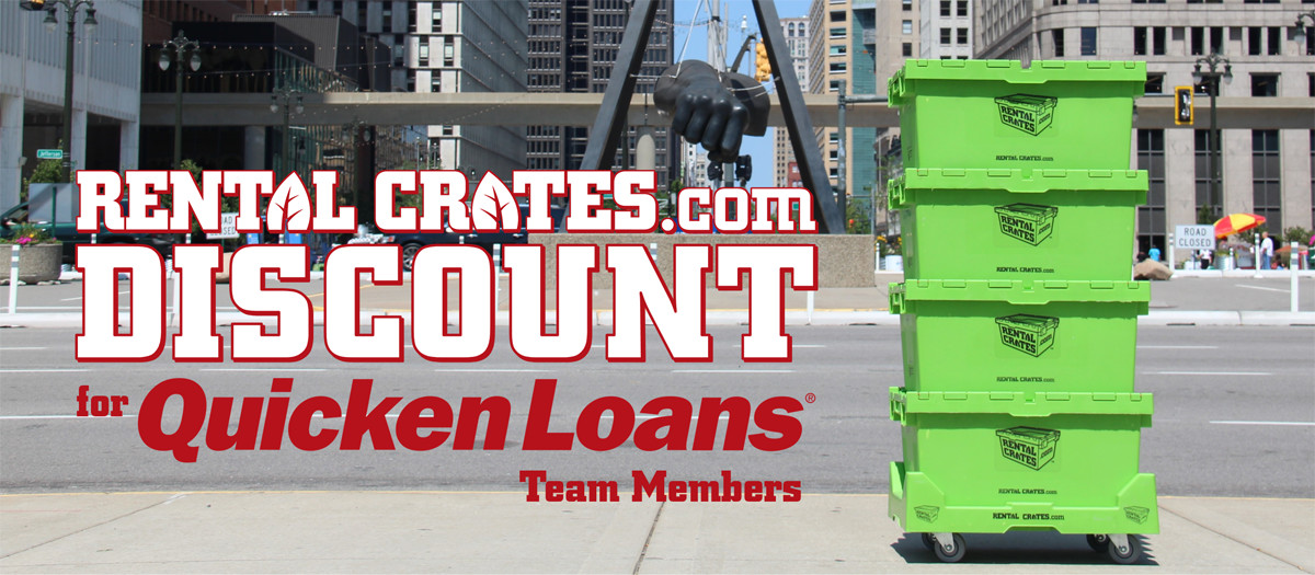 Rental Crates Quicken Loans Discount Header Image