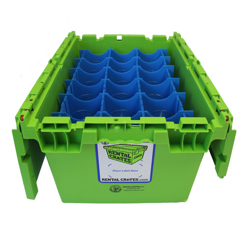 Rental Crates.com Rental Glassware Partition 2