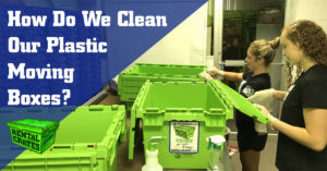 How do we clean our Plastic Moving Boxes?