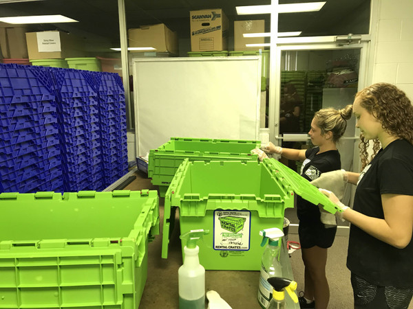 Cleaning Rental Crates Process 3