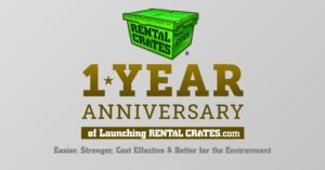 Rental Crates.com Celebrates its 1 Year Anniversary!